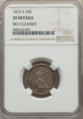 1875-S 20C -- Reverse Cleaned -- NGC Details. XF. NGC Census: (0/0). PCGS Population: (0/0). Mintage 1,155,000