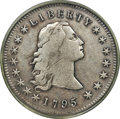 Early Dollars, 1795 $1 Flowing Hair, Three Leaves, B-5, BB-27, R.1, Fine 15PCGS....