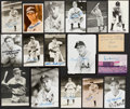 Autographs:Photos, 1940 Detroit Tigers Signed Photograph/Index/Postcard Lot of 33....