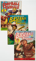 Golden Age (1938-1955):Miscellaneous, Golden Age Sports Comics Group of 5 (Various Publishers, 1940s-50s).... (Total: 5 Comic Books)