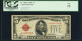 Small Size:Legal Tender Notes, Fr. 1528* $5 1928C Legal Tender Star Note. PCGS Fine 15.. ...