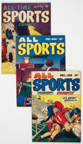 Golden Age (1938-1955):Miscellaneous, All Sports/All-Time Sports Comics Group of 5 (Hillman Publications, 1948-49) Condition: Average VG/FN.... (Total: 5 Comic Books)