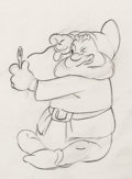 Animation Art:Production Drawing, Snow White and the Seven Dwarfs Happ...