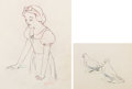 Animation Art:Production Drawing, Snow White and the Seven Dwarfs Snow White AnimationDrawings Matched Set of 2 (Walt Disney, 1937). ... (Total: 2 Items)