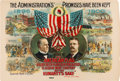 """Political:Posters & Broadsides (1896-present), McKinley & Roosevelt: One of the Classic Multicolored Poster Designs from the """"Golden Age"""" of American Color Lithography. ..."""