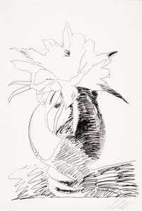 Andy Warhol (1928-1987) Flowers (Black and White), 1974 Screenprint on J. Green paper 40-1/2 x 27