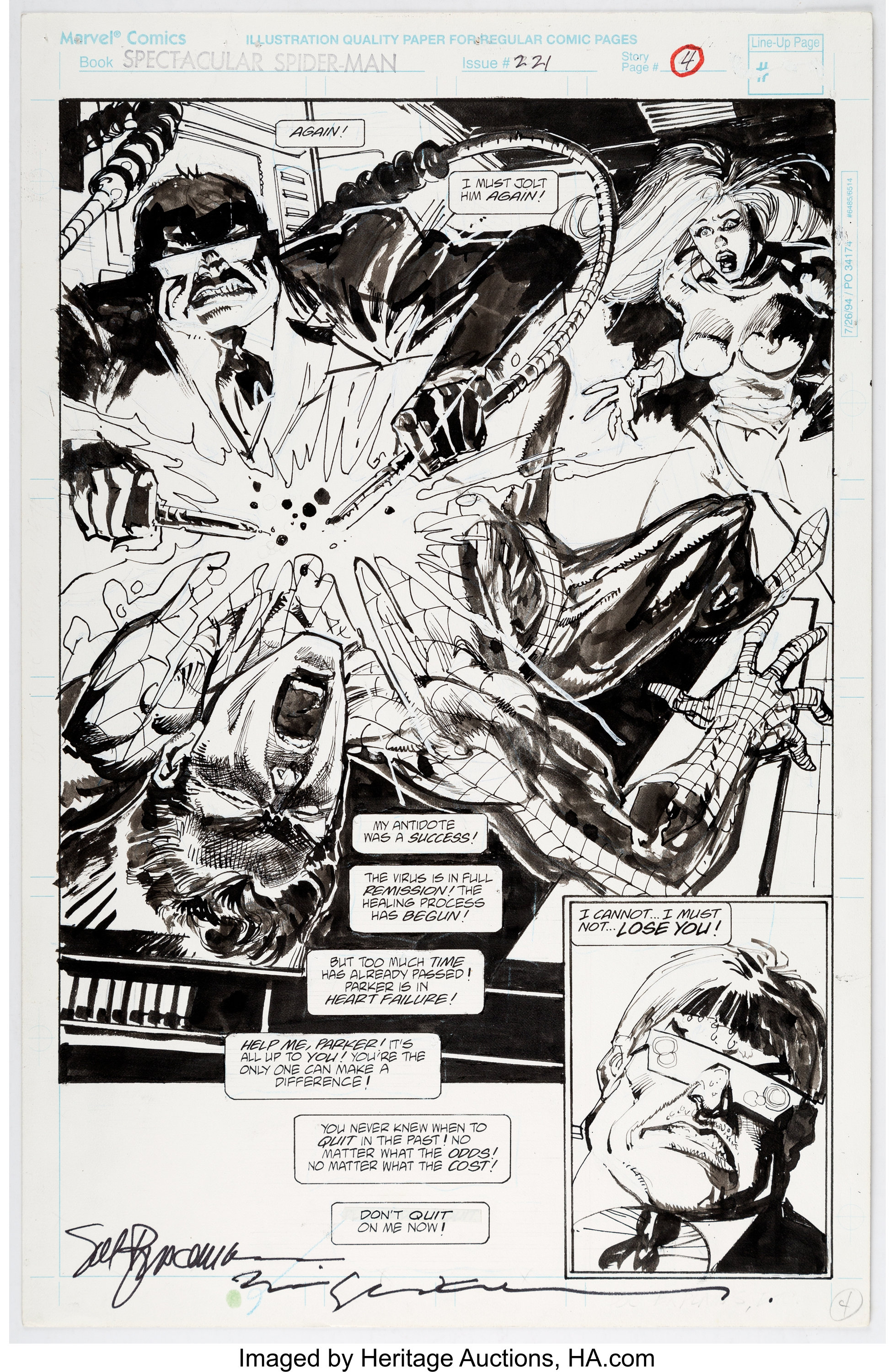 Sal Buscema and Bill Sienkiewicz The Spectacular Spider-Man #221