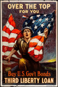 """Movie Posters:War, World War I Propaganda (Unite States Government, 1918). Rolled, Fine/Very Fine. Third Liberty Loan Poster (20"""" X 30"""") """"Over ..."""