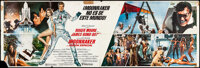 """Moonraker (United Artists, 1979). Folded, Overall: Fine/Very Fine. Spanish Bus Panels (3) (60"""" X 20"""") 3 Styles..."""