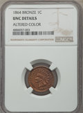 Indian Cents, 1864 1C Bronze No L -- Altered Color -- NGC Details. Unc. NGC Census: (4/427). PCGS Population: (4/484). CDN: $90 Whsle. Bi...