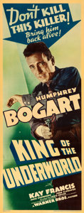 "Movie Posters:Crime, King of the Underworld (Warner Brothers, 1939). Fine/Very Fine on Paper. Linen Finish Insert (14.25"" X 36"").. ..."