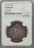 Bust Half Dollars: , 1819/8 50C Small 9 -- Cleaned -- NGC Details. VF. NGC Census: (4/173). PCGS Population: (14/284). CDN: $185 Whsle. Bid for ...