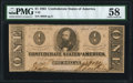 Confederate Notes:1863 Issues, T62 $1 1863 PF-1 Cr. 474 PMG Choice About Uncirculated 58.. ...
