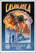 "Movie Posters:Academy Award Winners, Casablanca (Warner Brothers, R-1992). Folded, Very Fine/Near Mint. 50th Anniversary One Sheet (27"" X 39.75"") SS, Dudek Laslo..."