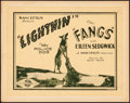 """Movie Posters:Action, Fangs (Sun Pictures, 1926). Very Fine-. Title Lobby Card (11"""" X 14""""). Action.. ..."""