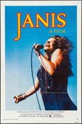 Movie Posters:Rock and Roll, Janis (Universal, 1975). Folded, Very Fine+. One S...