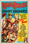 "Movie Posters:Comedy, Little Rascals Stock Poster (Monogram, R-1953). Folded, Very Fine. One Sheet (27"" X 41"") ""Divot Diggers."" Comedy.. ..."