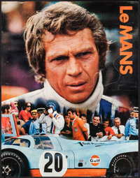 """Le Mans (Cinema Center, 1971). Rolled, Fine/Very Fine. Gulf Promotional Poster (17"""" X 22""""). Sports"""
