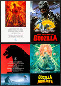 """Movie Posters:Science Fiction, Godzilla 1985 & Other Lot (Toho, 1984). Very Fine+. Japanese Programs (4) (Multiple Pages, 8.5"""" X 11.75"""") Original Title: ... (Total: 4 Items)"""