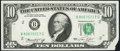 Error Notes:Foldovers, Foldover Error Fr. 2022-B $10 1974 Federal Reserve Note. C...