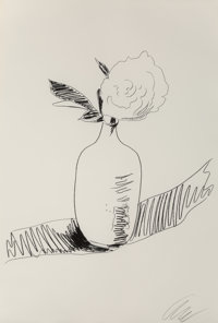 Andy Warhol (1928-1987) Untitled, from Flowers (Black and White), 1974 Screenprint on wov
