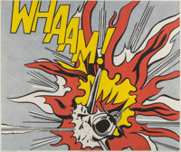 After Roy Lichtenstein Whaam!, diptych, 1967 Offset lithographs in colors on paper 25 x 29-3/8 i