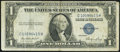 Error Notes:Foldovers, Pre-Back Printing Foldover Error Fr. 1614 $1 1935E Silver ...