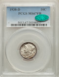 Mercury Dimes: , 1938-D 10C MS67 Full Bands PCGS. CAC. PCGS Population: (349/20). NGC Census: (197/8). CDN: $250 Whsle. Bid for problem-free...