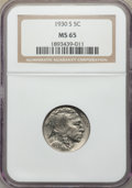 Buffalo Nickels: , 1930-S 5C MS65 NGC. NGC Census: (177/23). PCGS Population: (491/224). CDN: $340 Whsle. Bid for problem-free NGC/PCGS MS65. ...