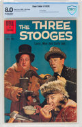 Silver Age (1956-1969):Humor, Four Color #1078 Three Stooges (Dell, 1960) CBCS VF 8.0 Off-white to white pages....