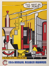 Roy Lichtenstein (1923-1997) This Must Be the Place, for the Reuben Awards, 1965 Offset lithograph i