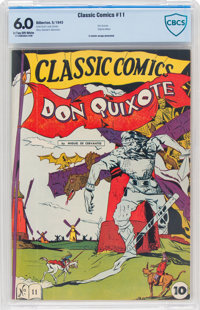 Classic Comics #11 Don Quixote - First Edition (Gilberton, 1943) CBCS FN 6.0 Light tan to off-white pages