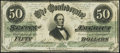 Confederate Notes:1862 Issues, T50 $50 1862 PF-9 Cr. 355 Very Fine.. ...