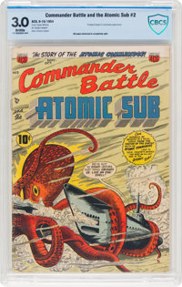 Commander Battle And The Atomic Sub #2 (ACG, 1954) CBCS GD/VG 3.0 Brittle pages