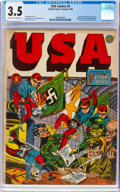 Golden Age (1938-1955):Superhero, USA Comics #5 (Timely, 1942) CGC VG- 3.5 Cream to off-white pages....