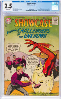 Showcase #6 Challengers of the Unknown (DC, 1957) CGC GD+ 2.5 Off-white pages