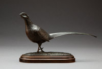 Geoffrey Dashwood (British, b. 1947) Cock Pheasant Bronze with green patina 5 inches (12.7 cm) hi