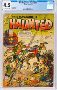 This Magazine Is Haunted #16 (Charlton, 1954) CGC VG+ 4.5 Off-white to white pages