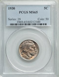 Buffalo Nickels: , 1930 5C MS65 PCGS. PCGS Population: (1228/496). NGC Census: (446/99). CDN: $155 Whsle. Bid for problem-free NGC/PCGS MS65. ...