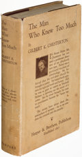 Books:Mystery & Detective Fiction, G. K. Chesterton. The Man Who Knew Too Much. New York: 1922. First U. S. edition....