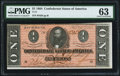 Confederate Notes:1864 Issues, T71 $1 1864 PF-12 Cr. 574 PMG Choice Uncirculated 63.. ...