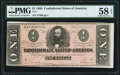 Confederate Notes:1864 Issues, T71 $1 1864 PF-1 Cr. 576 PMG Choice About Uncirculated 58 EPQ.. ...