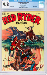 Red Ryder Comics #90 Mile High Pedigree (Dell, 1951) CGC NM/MT 9.8 White pages