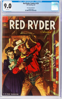 Red Ryder Comics #129 Mile High Pedigree (Dell, 1954) CGC VF/NM 9.0 White pages