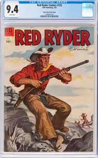 Red Ryder Comics #132 Mile High Pedigree (Dell, 1954) CGC NM 9.4 White pages