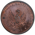 Great Britain: Buckinghamshire copper 1/2 Penny Token 1795 MS64 Red and Brown PCGS