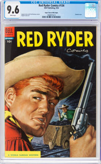 Red Ryder Comics #134 Mile High Pedigree (Dell, 1954) CGC NM+ 9.6 White pages