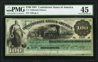 T3 $100 1861 PF-2 Cr. 3 PMG Choice Extremely Fine 45