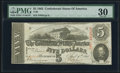 Confederate Notes:1863 Issues, T60 $5 1863 PF-21 Cr. 459 PMG Very Fine 30.. ...