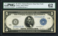 Fr. 851c $5 1914 Federal Reserve Note PMG Uncirculated 62